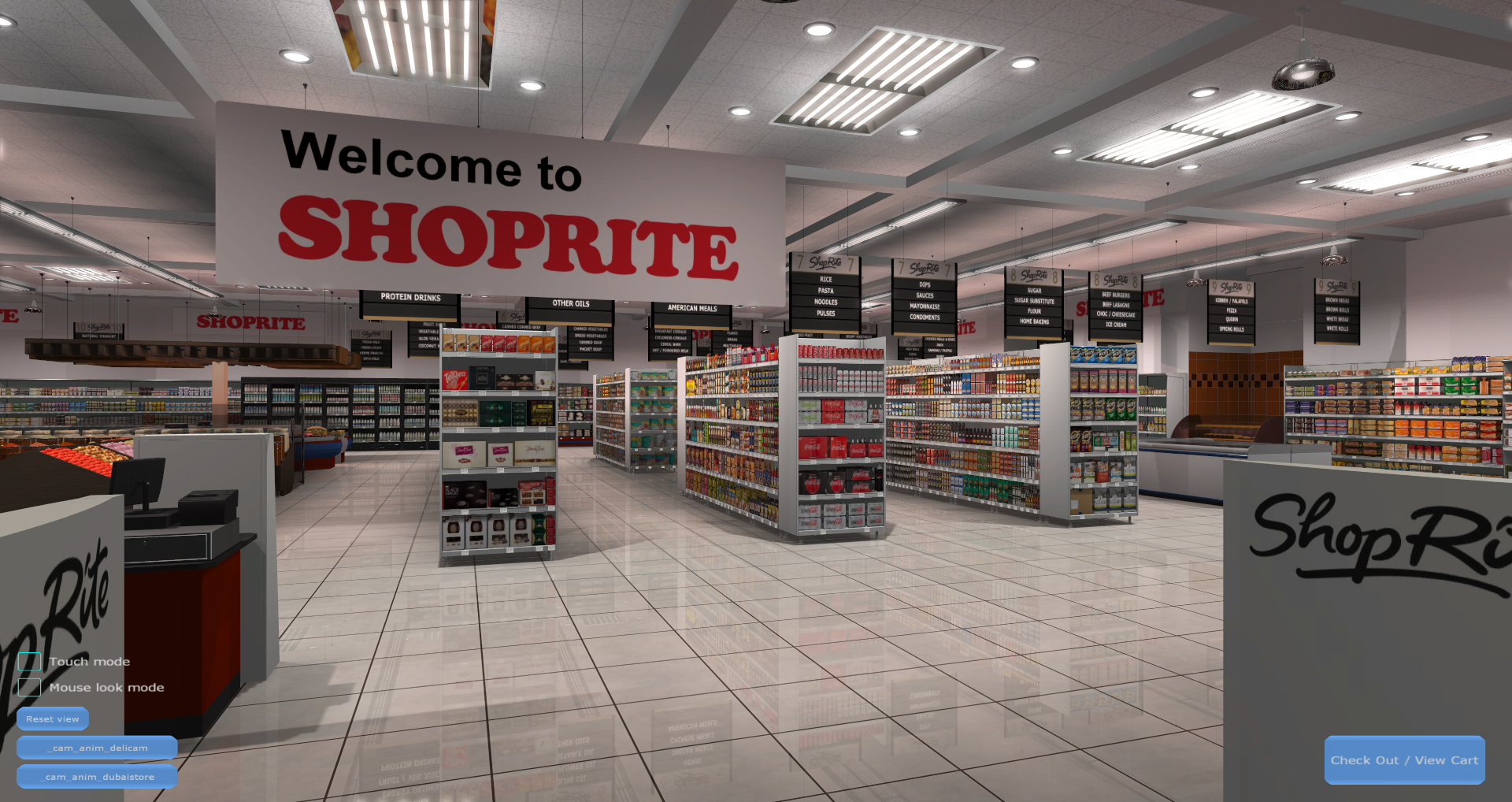 3D Shopping Virtual Store Screenshot from Carrefour VR Supermarket 1
