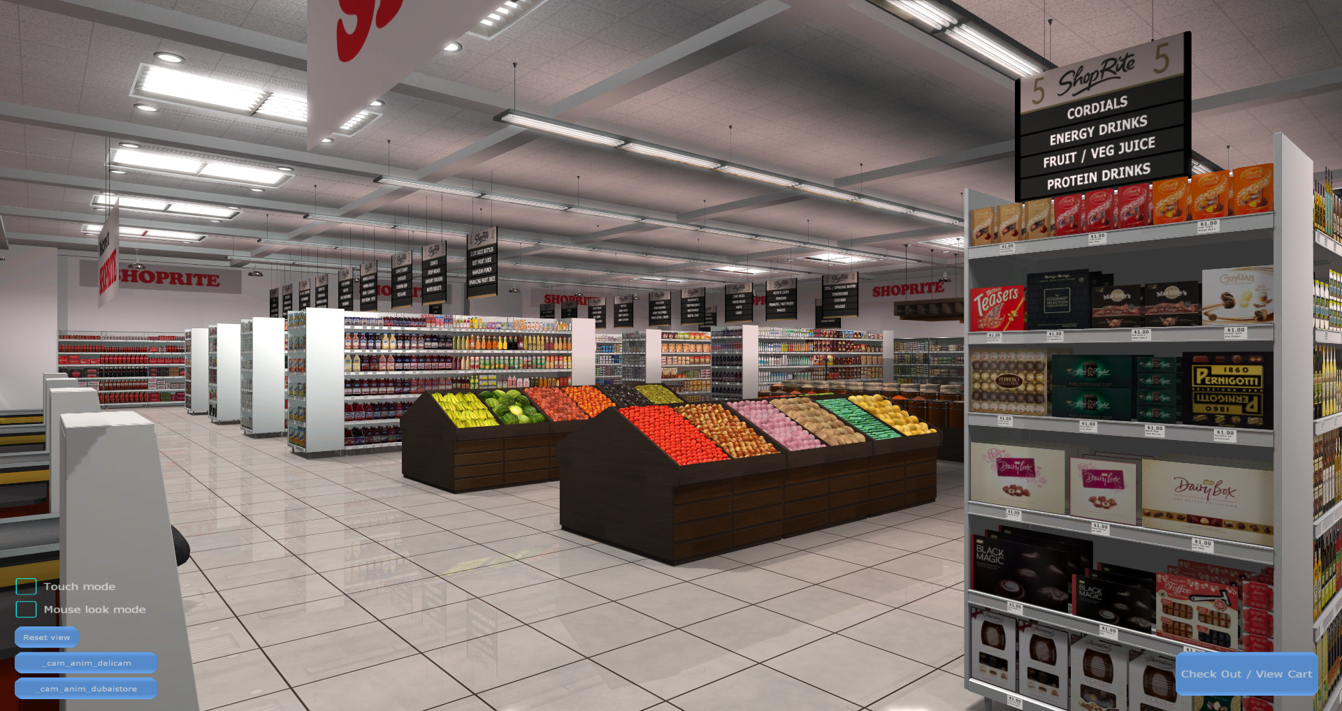 3D Shopping Virtual Store Screenshot from Carrefour VR Supermarket 2