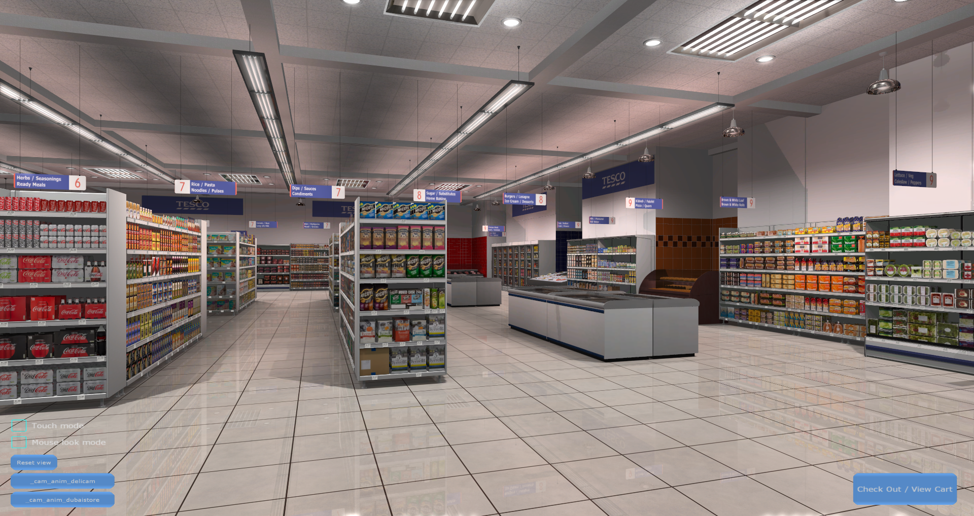 3D Shopping Virtual Store Screenshot from Carrefour VR Supermarket 3