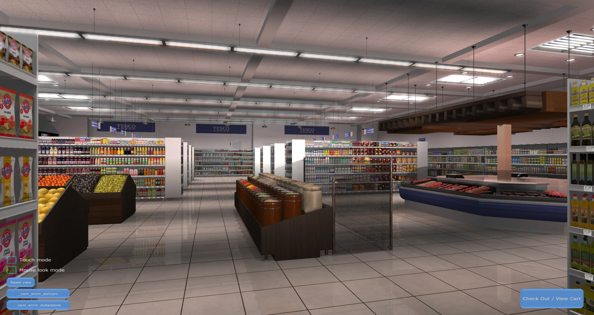 3D Shopping Virtual Store Screenshot from Carrefour VR Supermarket 4