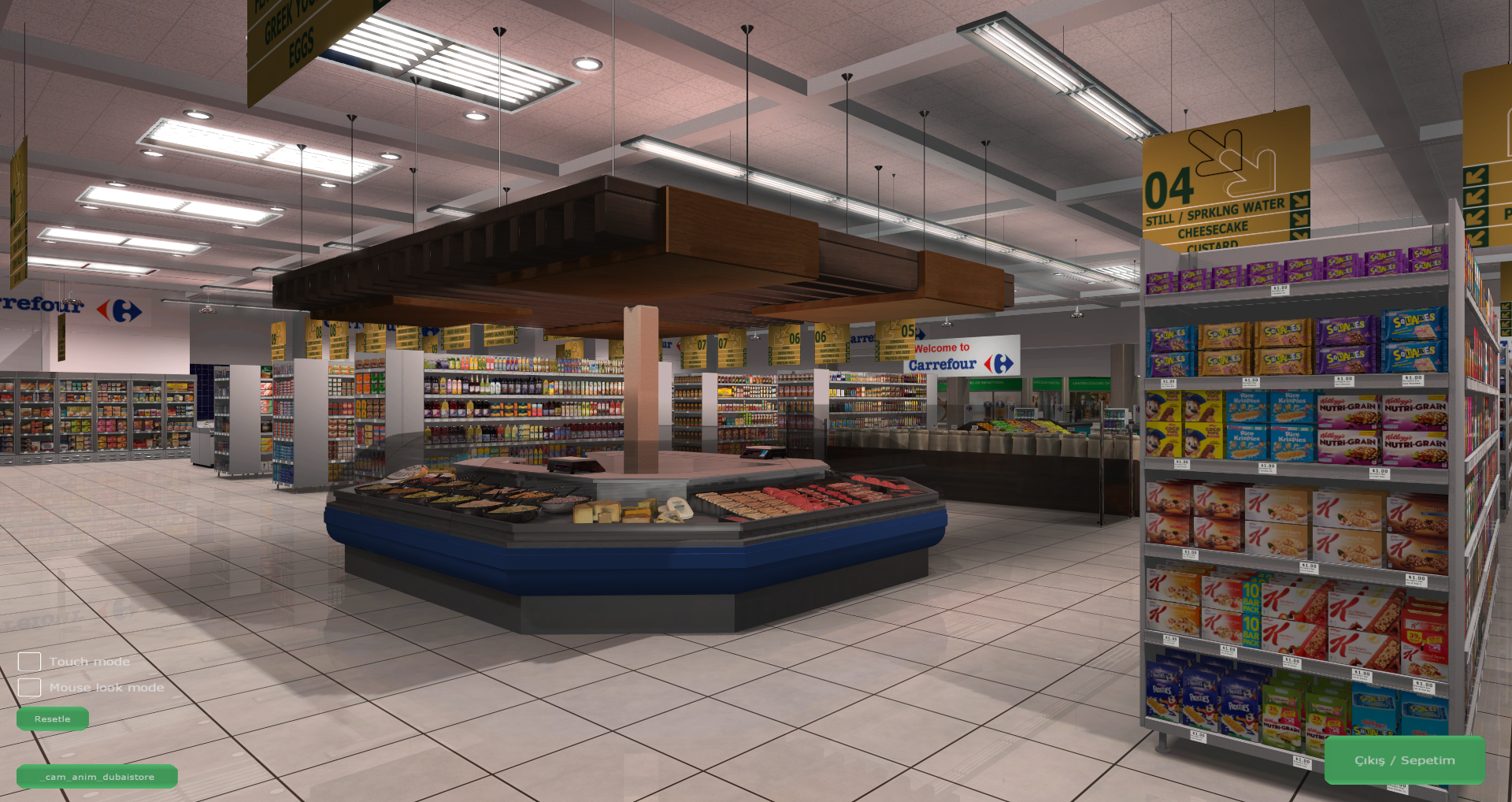 3D Shopping Virtual Store Screenshot from Carrefour VR Supermarket 5