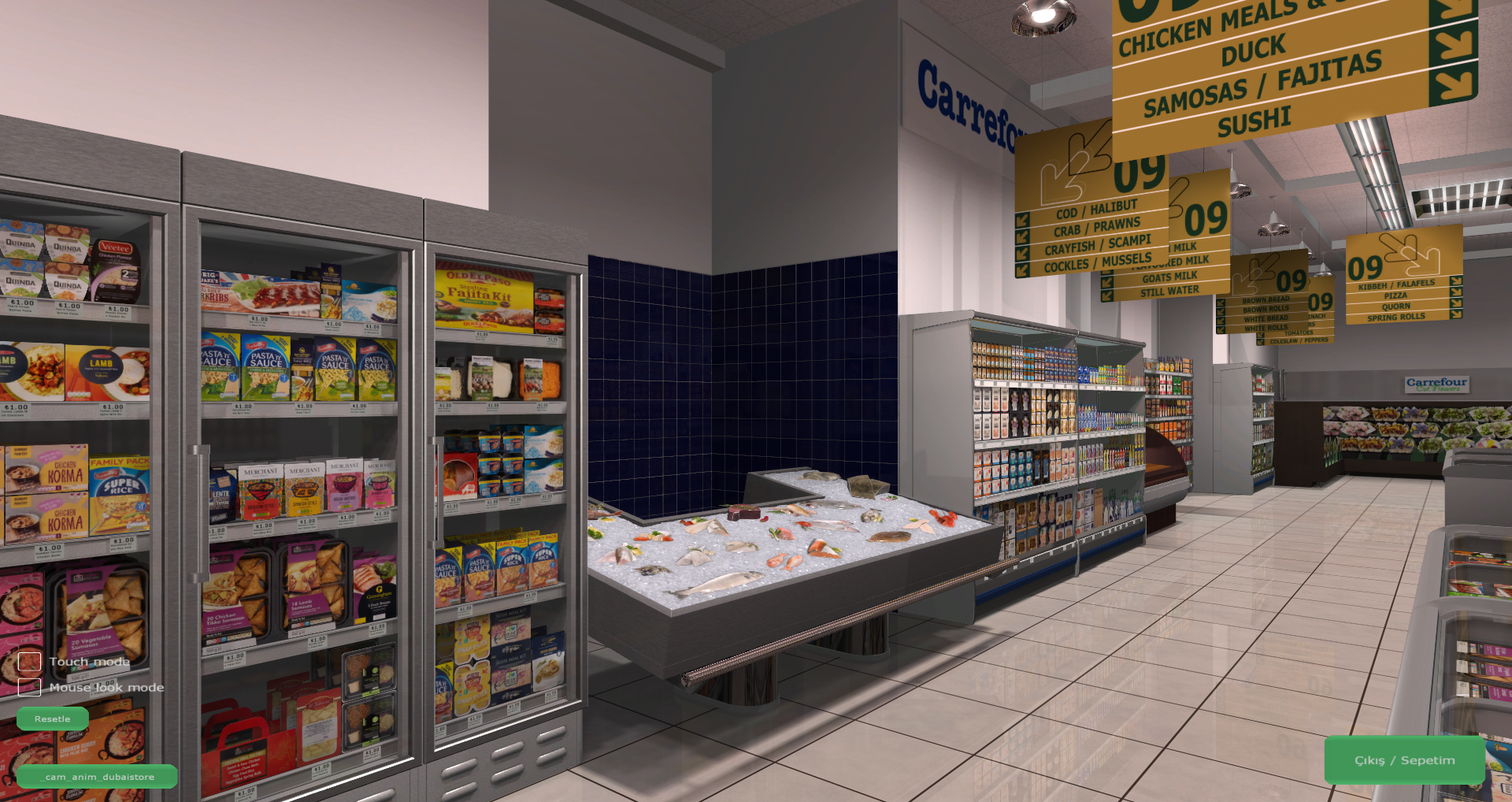 3D Shopping Virtual Store Screenshot from Carrefour VR Supermarket 6