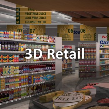 3D Virtual Shopping, 3D Virtual Store, 3D Retail, Virtual Market Research